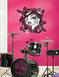 Monster High Face with Lace Peel & Stick Wall Decals Decalque em parede