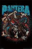 Pantera - Rocker Skull Music Poster Prints