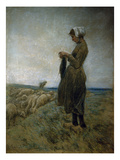 Young Dutch Herdess (Knitting Herdess), c. 1887 Posters by Max Liebermann