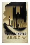 London Underground Poster Featuring Westminster Abbey, 1934 Giclee Print