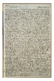 Letter to Wolfgang Amadeus Mozart from Father Leopold Mozart, October 18, 1777 Giclee Print