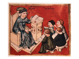 Bachelor Teaching His Pupils, C 15th Art