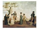 Portrait d'un Famille Vers 1800 (Family portrait c.1800) Giclee Print by Jean Baptiste Isabey
