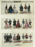 Figurini dell'Opera Rigoletto (Figures from the Opera Rigoletto), Opera by Giuseppe Verdi Posters