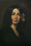 George Sand, 1839 Giclee Print by Auguste Charpentier