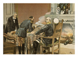 Scene from the Armistice Negotiations at the End of the Franco-Prussian War, 1870-1 Giclee Print by Carl Roehling