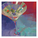 Martini in Plum Giclee Print by Patti Mollica