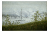 Ship on the Elbe in the Early Morning Fog Poster by Caspar David Friedrich