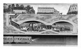 Métro (Underground Train System), Paris, 1900 Wooduct Print