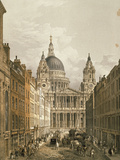 View of St. Paul's Cathedral from Ludgate Hill, 1852 Poster
