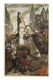 Joan of Arc at the Stake Giclee Print