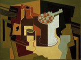 Bouteille et Compotier (Bottle and Fruit Bowl), 1920 Giclee Print by Juan Gris