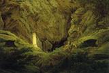 Caspar David Friedrich - Tombs of Ancient Heroes Digitálně vytištěná reprodukce
