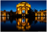Palace of Fine Arts Reflected Photo Poster Prints by Mike Dillon
