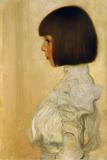 Portrait of Helene Klimt Gicléedruk van Gustav Klimt