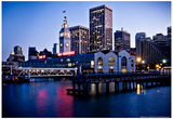 San Francisco Ferry Building Photo Poster Affiches par Mike Dillon