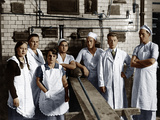Bakery, Group Picture Photographic Print
