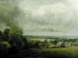 Higham Village am Flusse Stour, c.1804 Giclee Print by John Constable