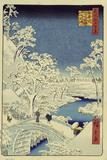 Drum Bridge Near Meguro, 1856-58 Giclee Print by Ando Hiroshige