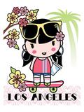 Los Angeles Cutie Affiche par Joan Coleman
