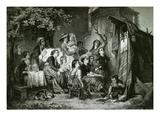 Das Marionettenspiel (The Puppet Show) Giclee Print by Jakob Gruenenwald