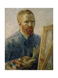 Self-portrait at the Easel, Beginning of 1888 Posters by Vincent van Gogh