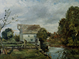 Mill by the River Stour, c.1820 Giclee Print by John Constable