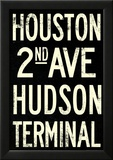 New York City Houston Hudson Vintage RetroMetro Subway Poster Print