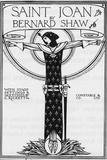 George Bernard Shaw, Saint Joan, 1924 Giclée-tryk