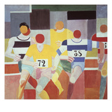 Les Coureurs (The Runners), 1925-26 Art by Robert Delaunay