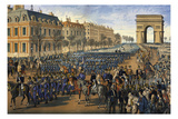 Kaiser Wilhelm I with Retinue at the Arc De Triomphe Prints