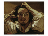 Le Désespéré (Self portrait, The Des- paring Man), 1841 Print by Gustave Courbet