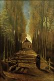 Poplar Avenue in Autumn, October 1884 Reproduction procédé giclée par Vincent van Gogh