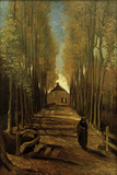 Poplar Avenue in Autumn, October 1884 Giclee Print by Vincent van Gogh