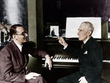 Maurice Ravel and Jacques Fevrier Photographic Print
