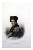 J.J.Rousseau Giclee Print by Allan Ramsay