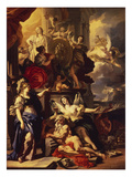 Allegory of the Good Reign, 1690 Prints by Francesco Solimena