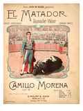 Title Page for Sheet Music for El Matador, Spanish Waltzes by Camillo Morena, Op.72, 1902 Prints