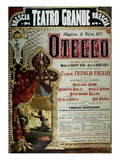Poster for the production of Othello by Giuseppe Verdi in Brescia, Teatro Grande, 1887 Poster