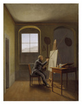 Caspar David Friedrich in His Studio Giclee Print by Caspar David Friedrich