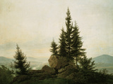 View into the Elbe Valley, 1807 Giclée-Druck von Caspar David Friedrich