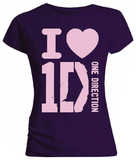 Juniors: One Direction - I Heart 1D T-Shirt