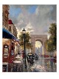 Arc De Triomphe Avenue Plakater af Brent Heighton