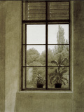 Window with View of a Park Art by Caspar David Friedrich