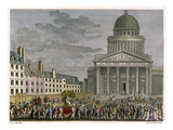 Rousseau's Idolization, His Remains are Moved to the Pantheon in 1794 Giclee Print by Samuel Gysin