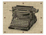 Vintage Typewriter Giclee Print by Sam Appleman