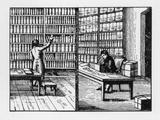 Librarian, Kaufmann, Rad. Um 1815 Impression giclée