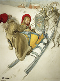 Kersti Sledging, 1901 Wydruk giclee autor Carl Larsson