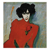 Portrait of the Dancer Alexander Sakharov, 1909 Art by Alexej Von Jawlensky