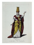 Figurine of Sarastro, Character from The Magic Flute, Opera by Wolfgang Amadeus Mozart Prints by Karl Friedrich Thiele